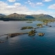 Atlantic Ocean Road Aerial Footage Norway - VideoHive Item for Sale
