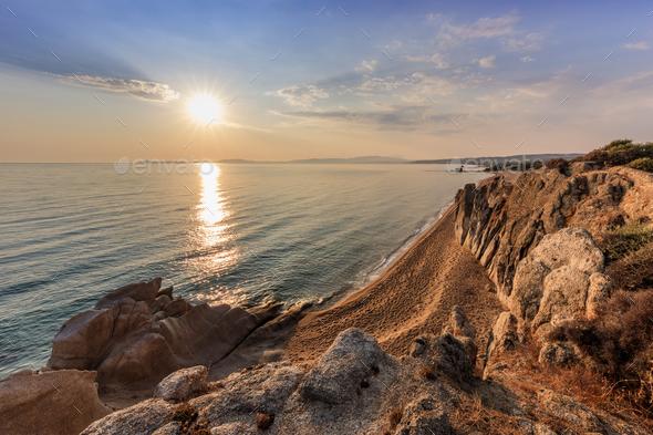 Ierissos-Kakoudia beach, Greece - Stock Photo - Images