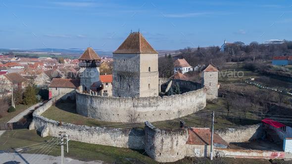 The Calnic fortress. Transylvania, Romania - Stock Photo - Images
