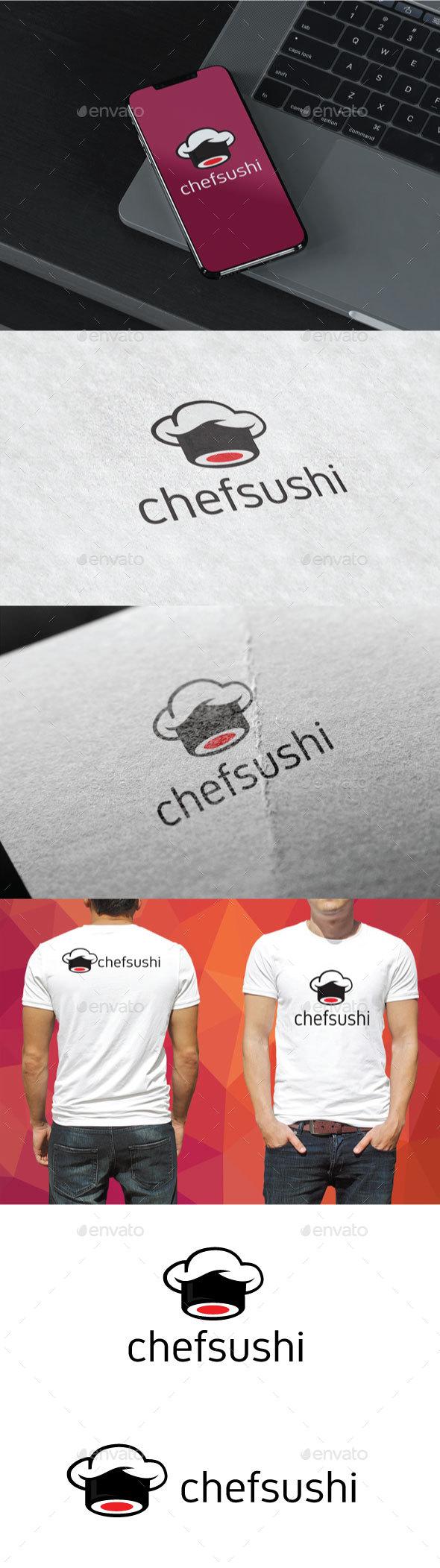Chefsushi Logo - Food Logo Templates