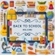 Back To School Background with 3d Paper Cut Signs - GraphicRiver Item for Sale