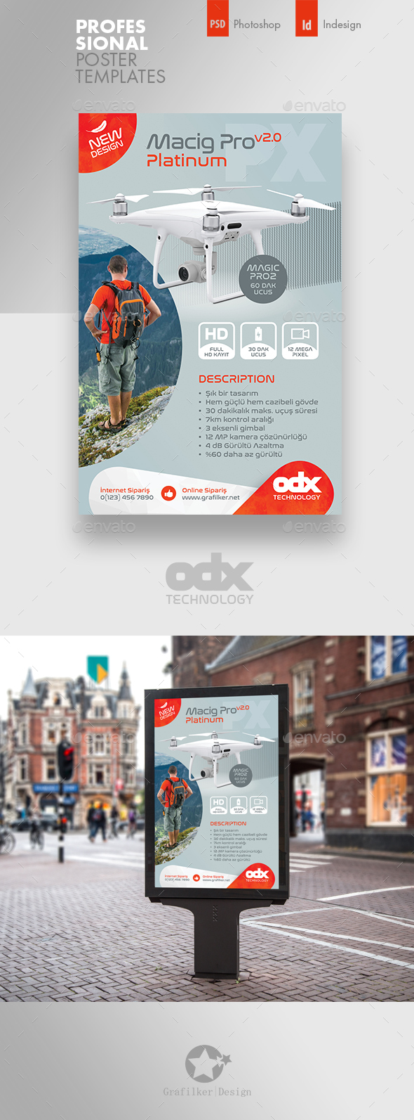 Drone Technology Poster Templates - Signage Print Templates