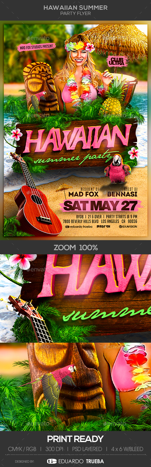 Hawaiian Summer Party - Clubs & Parties Events
