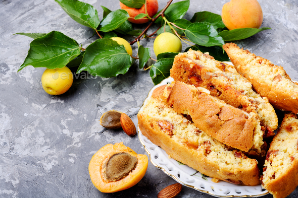Italian almond biscotti - Stock Photo - Images