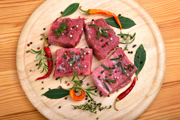 Fresh raw beef meat - Stock Photo - Images