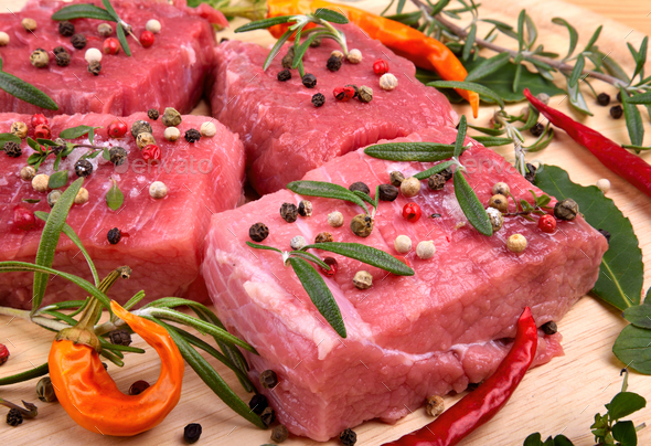 Raw beef meat close up - Stock Photo - Images