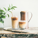 Iced coffee drink in tall glasses with milk, horizontal composition - PhotoDune Item for Sale