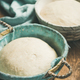 Sourdough for baking homemade wheat flour bread in baskets - PhotoDune Item for Sale
