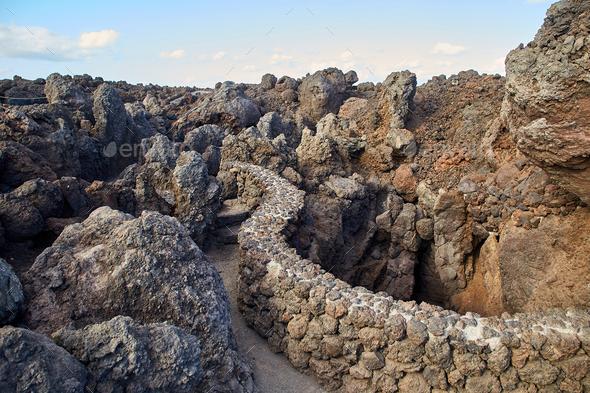 Los Hervideros, Lanzarote Island, Canaries - Stock Photo - Images