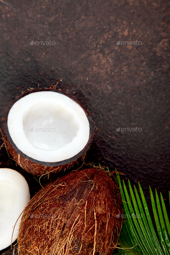 Fresh Coconut  Food concept. - Stock Photo - Images
