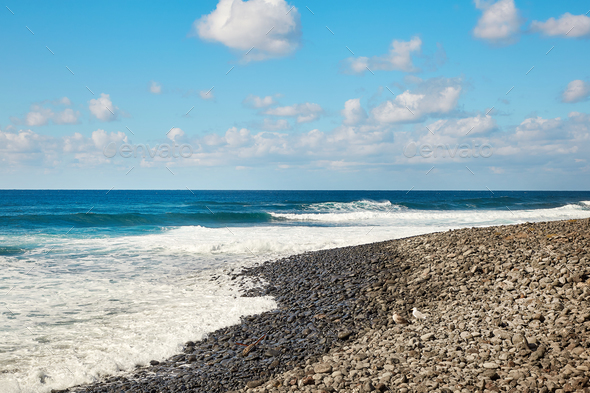 Beautiful landscape of Lanzarote Island - Stock Photo - Images