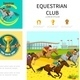 Cartoon Equestrian Sport Infographic Concept - GraphicRiver Item for Sale