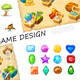 Cartoon Game Elements Collection - GraphicRiver Item for Sale