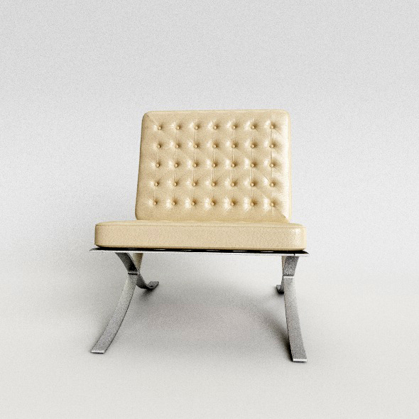 Barcelona chair - 3DOcean Item for Sale