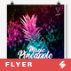 Magic Pineapple Night - Party Flyer / Poster Template A3 - GraphicRiver Item for Sale