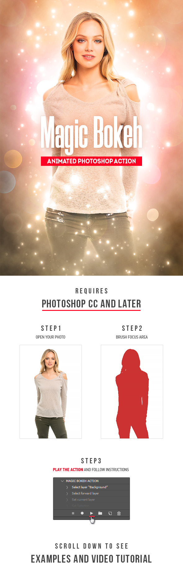 Magic Bokeh - Animated Photoshop Action - Photo Effects Actions