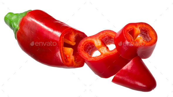 Kalocsai v2 hungarian paprika pepper, paths - Stock Photo - Images