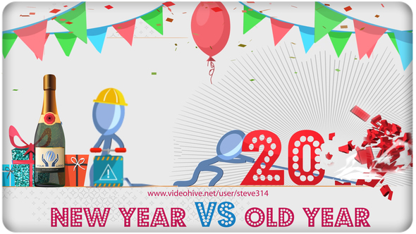 Happy New Year vs Bad Old Year - Humorous Greetings by steve314 ...