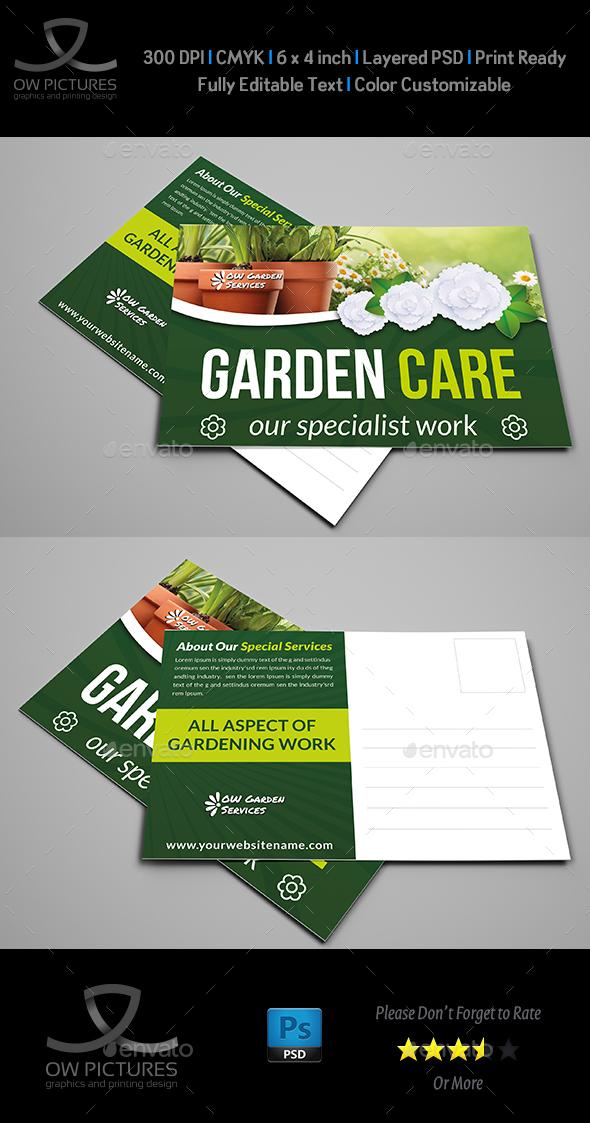 Garden Services Postcard Template Vol.3 - Cards & Invites Print Templates