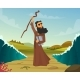 Vector Historical Illustration of Biblical Story