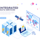 Global Data Center Isometric Banner