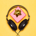 Headphones with gift box - music as gift - PhotoDune Item for Sale