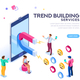 Social Media Concept Flat Isometric - GraphicRiver Item for Sale