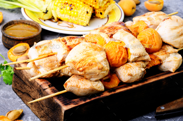 Tasty grilled turkey - Stock Photo - Images