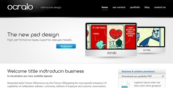 Ocralo - Corporate Site Templates