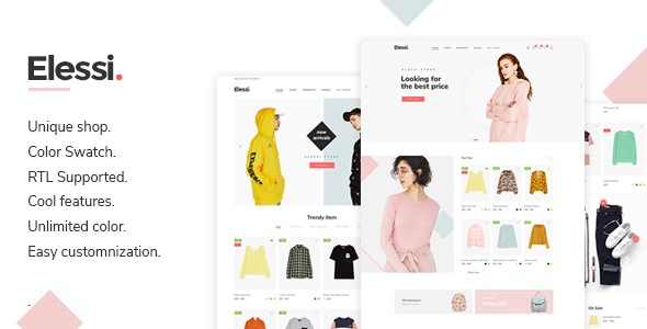 Image of Elessi - Fashion Responsive Magento 2 Theme ( RTL supported )