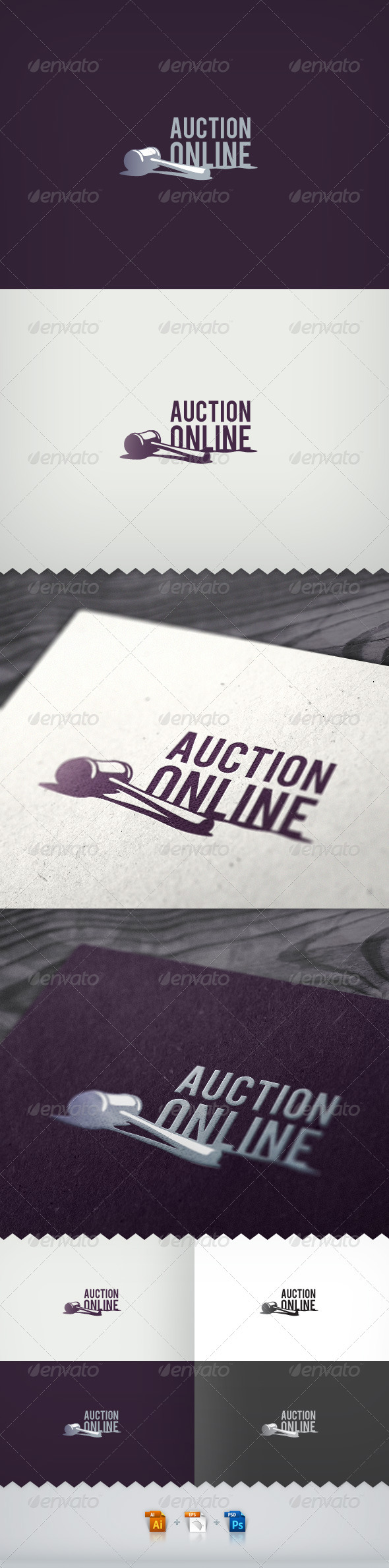 Auction Online Logo - Objects Logo Templates