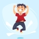 Cartoon Character of Boy Jumping - GraphicRiver Item for Sale