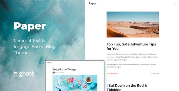 Paper - A Clean, Typography-First Ghost  Blog Theme - Ghost Themes Blogging