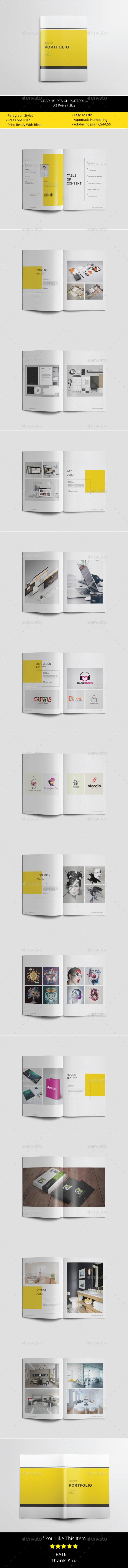 A5 Graphic Design Portfolio - Portfolio Brochures
