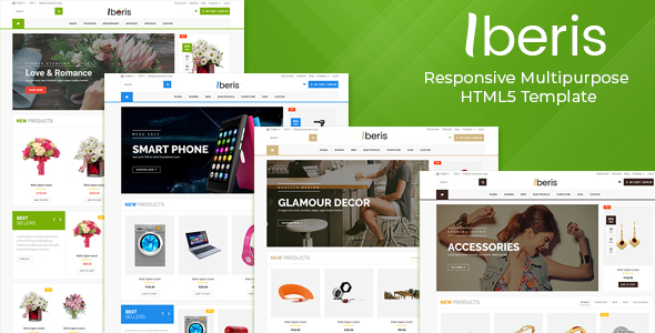 Iberis - Responsive Multipurpose HTML5 Template - Retail Site Templates