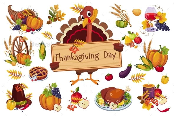 Turkey for Thanksgiving Day - Food Objects