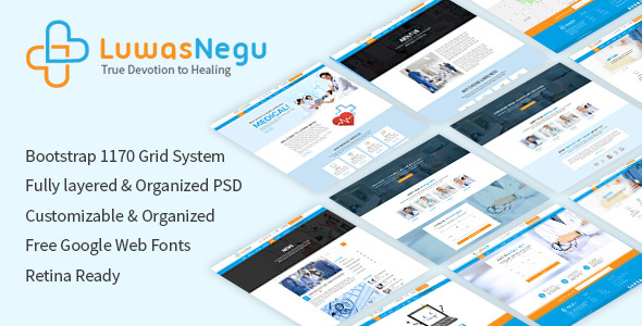 Luwas Negu PSD Template - Health & Beauty Retail