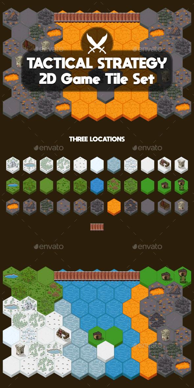 Strategy Game Tile Set - Tilesets Game Assets