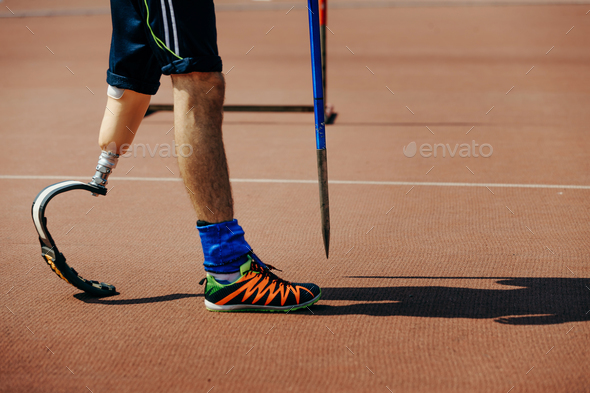 athlete with limb loss leg - Stock Photo - Images