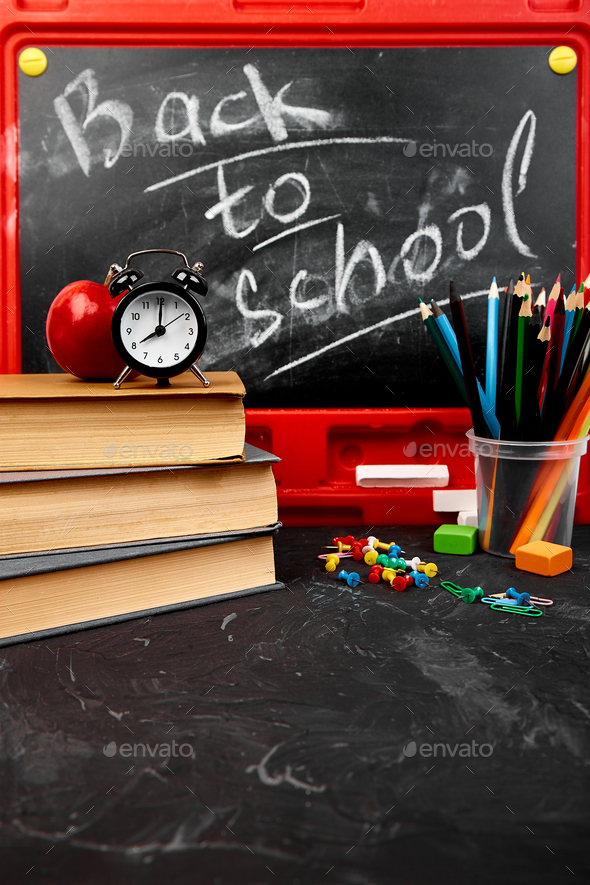 Back to school lettering - Stock Photo - Images