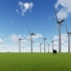 Wind Turbines on a Green Field and Sheep - VideoHive Item for Sale