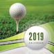 Golf Play Wall Calendar A3 2019