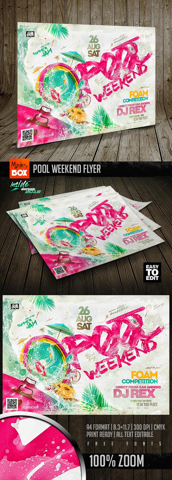 Pool Weekend Flyer - Events Flyers