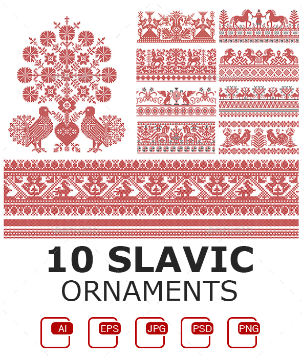 10 Slavic Ornaments - Miscellaneous Vectors