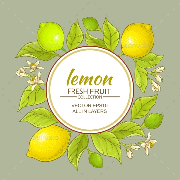 Lemon Vector Frame - Food Objects