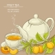 Apricot Tea Illustration