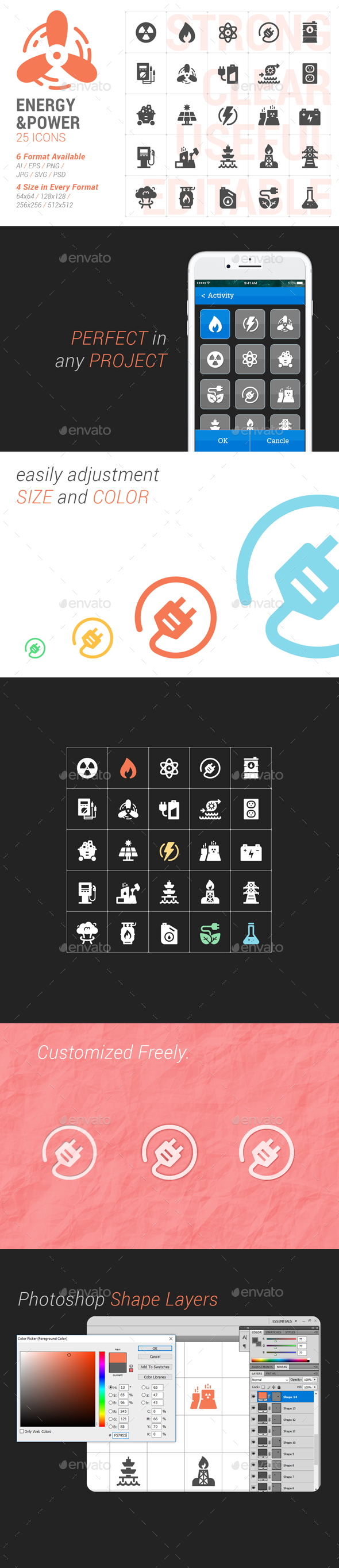 Energy & Power Filled Icon - Icons