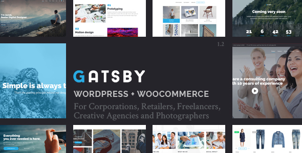 Gatsby - WordPress + eCommerce Theme - Creative WordPress