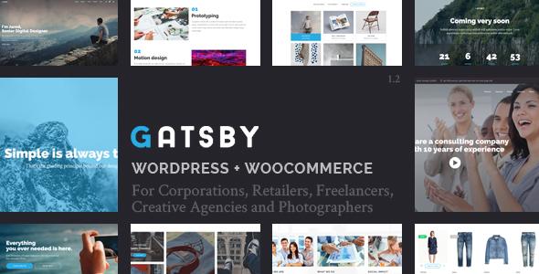 Gatsby - WordPress + eCommerce Theme