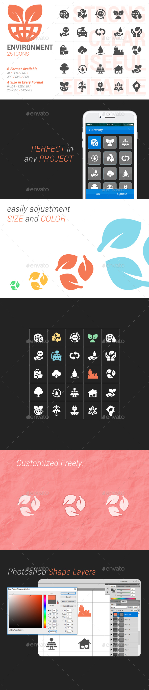 Environment Filled Icon - Icons